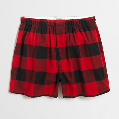 Buffalo check flannel boxers