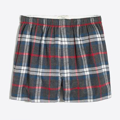 Plaid flannel boxers