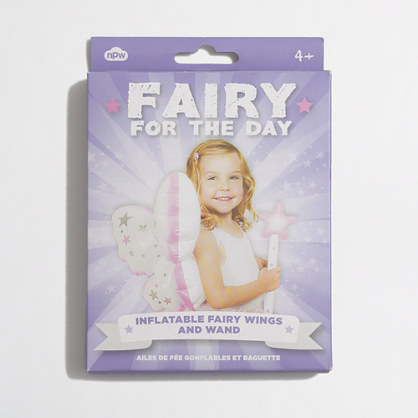 Girls' npw™ inflatable fairy wings and wand