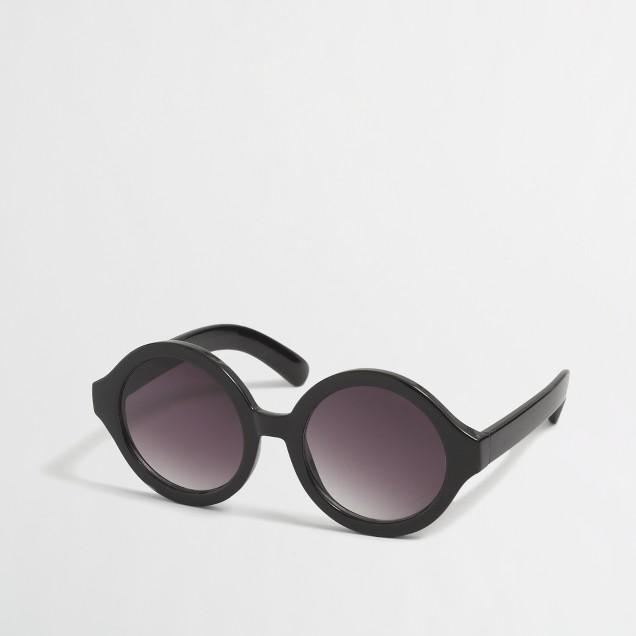 Girls' black round sunglasses
