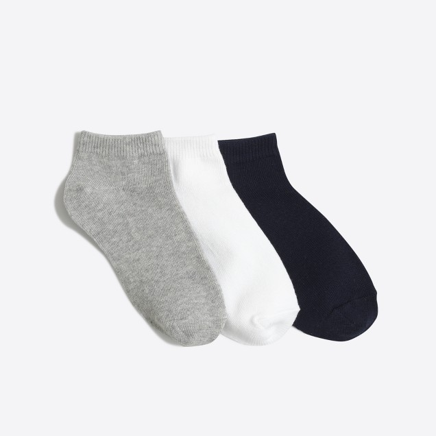 Kids' ankle socks three-pack