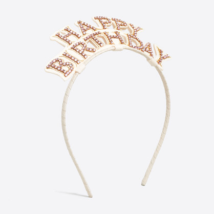 Girls' happy birthday crown