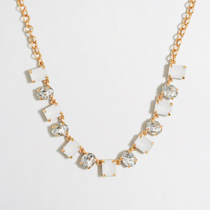 Girls' crystal stone statement necklace