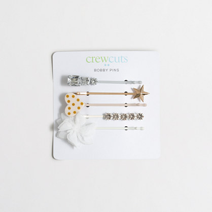 Girls' bobby pin five-pack