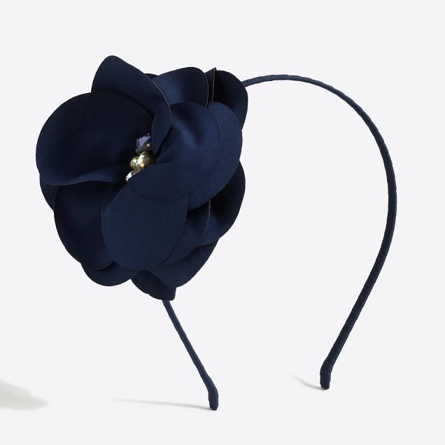 Girls' jeweled flower headband