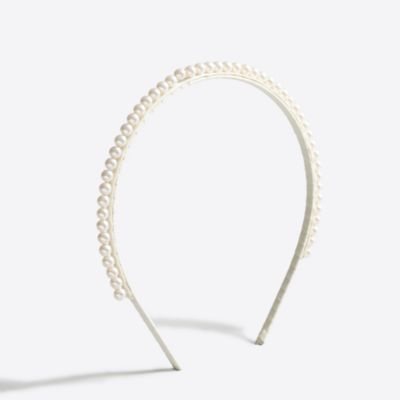 Girls' pearl headband