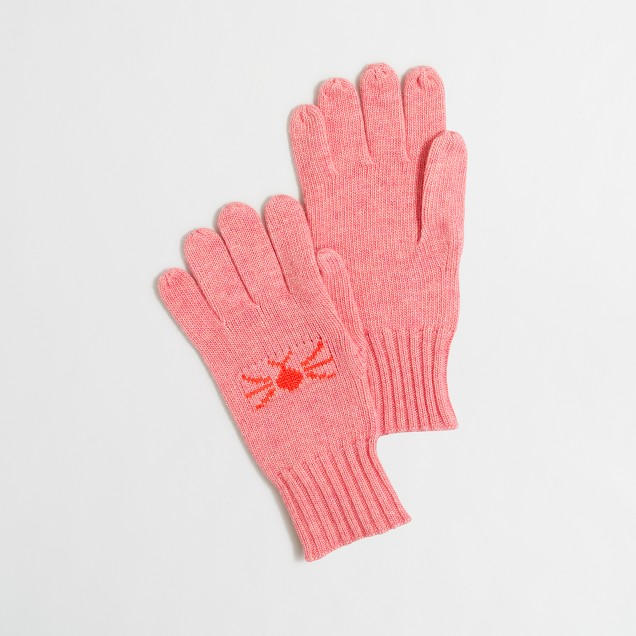 Girls' meow mittens