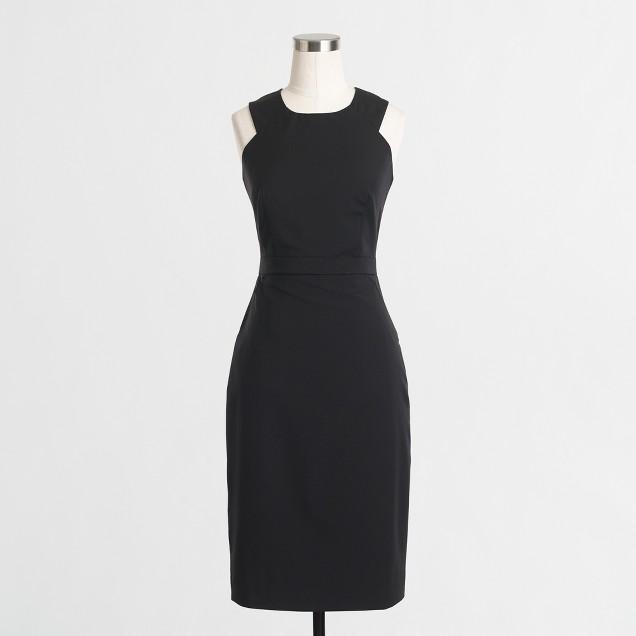 Wool cutout dress