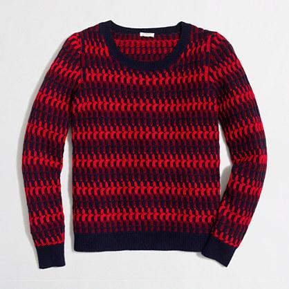 Lambswool twisted rib-stitch sweater