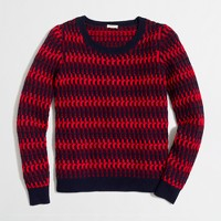 Lambswool twisted rib-stitch sweater