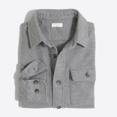 Boys' heathered cotton elbow-patch shirt