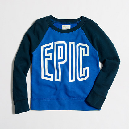 Boys' long-sleeve glow-in-the-dark epic sweatshirt