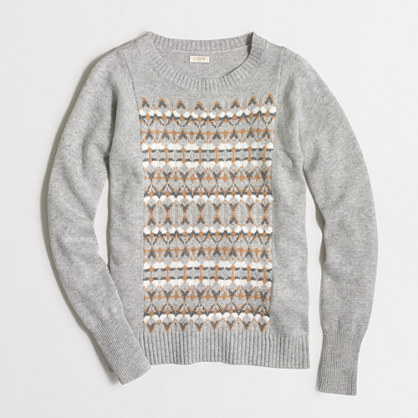 Fair Isle front sweater