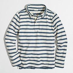 Boys' long-sleeve striped polo shirt
