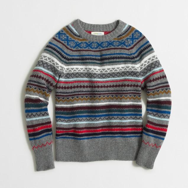 Boys' Fair Isle sweater : | Factory