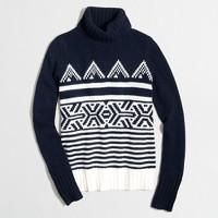 Graphic Fair Isle turtleneck sweater