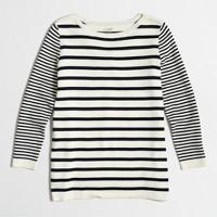 Mixed-stripe sweater