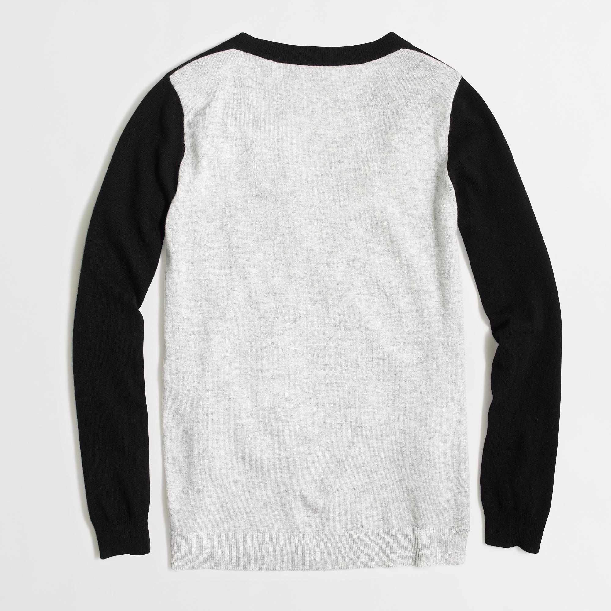 Colorblock tunic sweater : | Factory