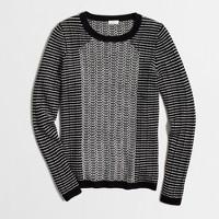 Striped chevron-stitch sweater