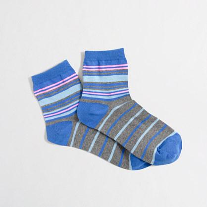 Striped ankle socks