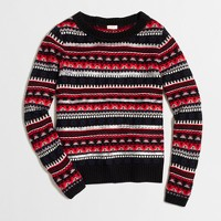 Sequined Fair Isle sweater