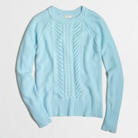 Pointelle cable-knit sweater