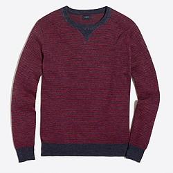 Striped sweatshirt sweater