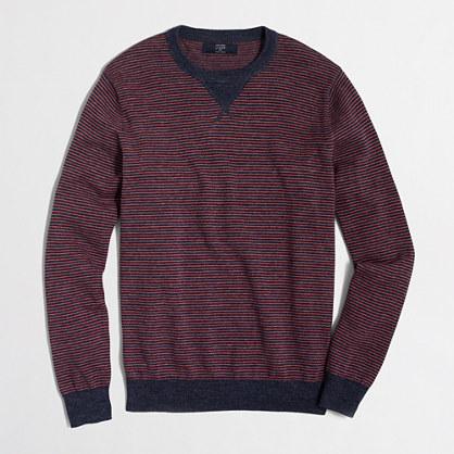 Tall striped sweatshirt sweater