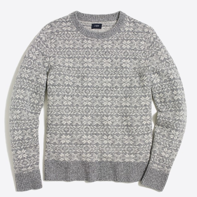 Lambswool snowflake sweater