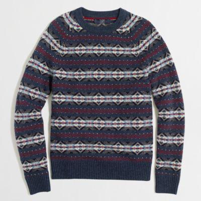 Tall lambswool Fair Isle sweater : | Factory