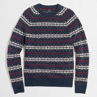 Tall lambswool Fair Isle sweater