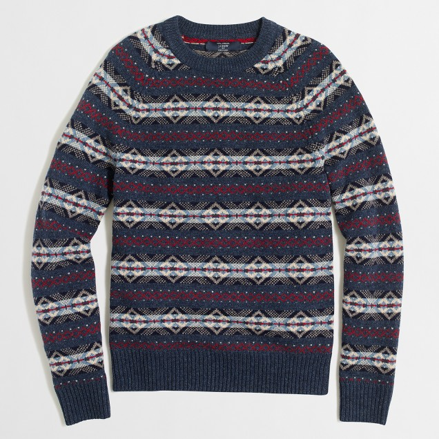 Slim lambswool Fair Isle sweater
