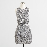 Printed cascade dress