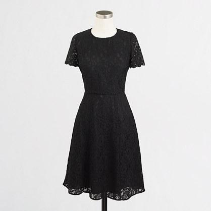 Petite floral lace dress
