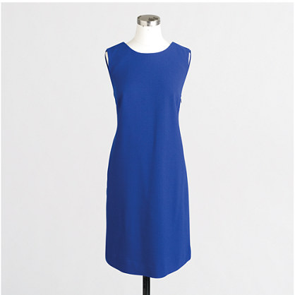 Crepe V-back shift dress