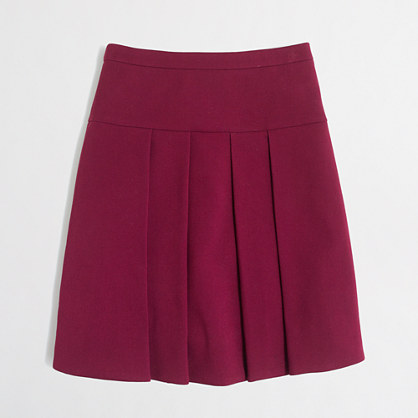 Crepe box-skirt