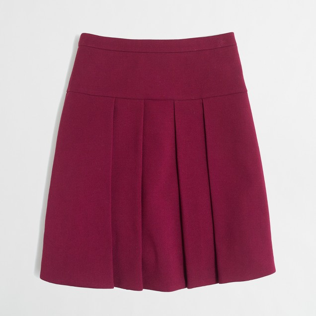 Crepe box-skirt
