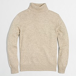 Cotton-merino blend turtleneck sweater