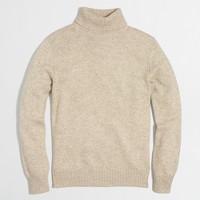 Cotton-merino blend turtleneck sweater