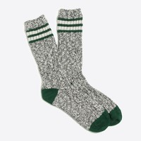 Placed-stripe camp socks