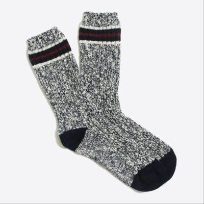 Placed-stripe camp socks