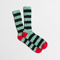 Striped camp socks with tipping