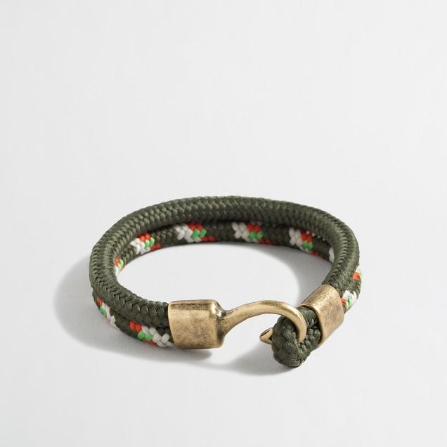 Thick lanyard bracelet