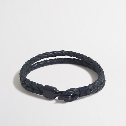 Tonal braided leather bracelet