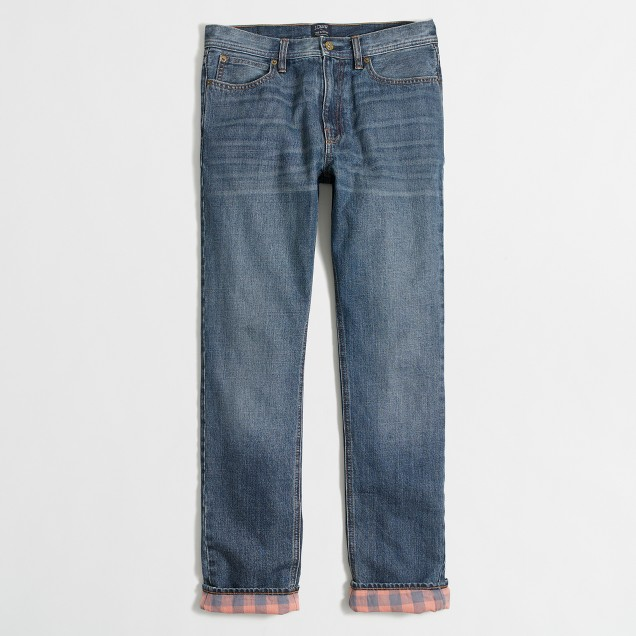 Sutton flannel-lined jean