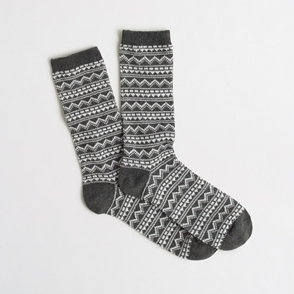Dotted zigzag trouser socks