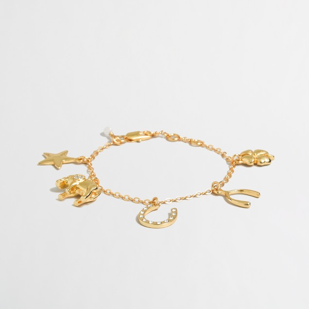 Girls' good luck charm bracelet