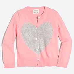 Girls' heart me cardigan sweater