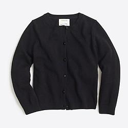 Girls' wool-blend Casey cardigan sweater