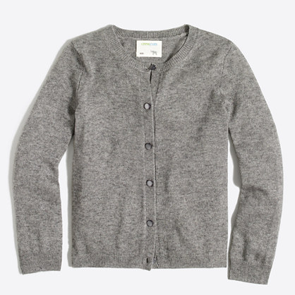 Girls' wool-blend Casey cardigan sweater